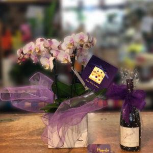 Orchid Pot & Wine