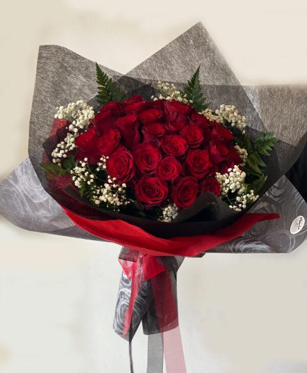 Custom Red Roses Bouquet
